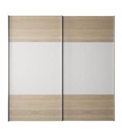 Skriňa s posuvnými dverami, dub sonoma/biela, GABRIELA