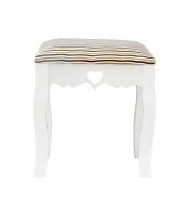 Elegantný taburet, biela/pásik, WAGNER 1