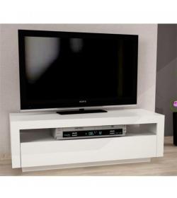 TV stolík/skrinka, biela, AGNES