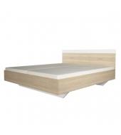Manželská posteľ, 180x200, dub sonoma/biela, GABRIELA