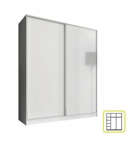 Skriňa dvojdverová kombinovaná, šírka 160 cm, biela, AVA