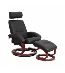 Relaxačné kreslo, čierne/čerešňa, NIGEL