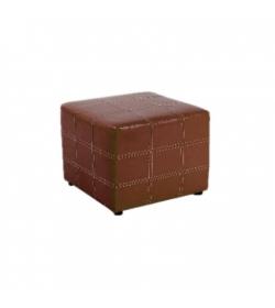 Taburet, hnedá textilná koža, NELA