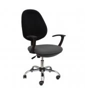 Kancelárske kreslo, sivá/čierna, BOBAN 802