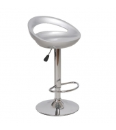 Barová stolička, sivá/chróm, DONGO NOVE