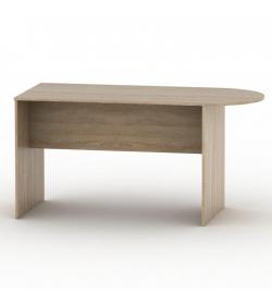 Kancelársky stôl s oblúkom, dub sonoma, TEMPO ASISTENT NEW 022