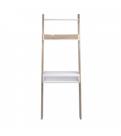 PC stolík s policou, dub sonoma / biela, OSLO 75389