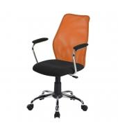 Kancelárska stolička, oranžová/čierna, BST 2003