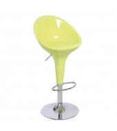 Barová stolička, chróm/zelená, ALBA NOVA