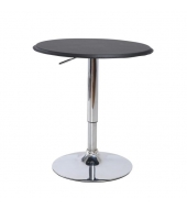 Barový stôl, otočný, s nastaviteľnou výškou, chróm/čierna, BRANY