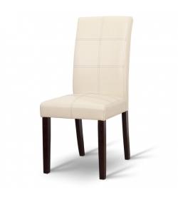 Jedálenská stolička, tmavý orech/ekokoža krémová, RORY NEW
