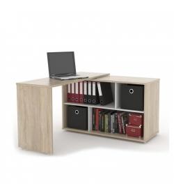 Rozkladací PC stôl, dub sonoma, ASTON