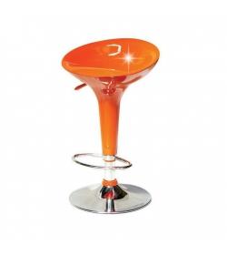 Barová stolička, oranžová/chróm, INGE NOVA