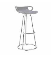 Barová stolička, sivá/chróm, GLADI