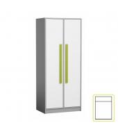Vešiaková skriňa, sivá/biela/zelená, PIERE P01