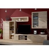 Obývacia stena s LED osvetlením, san remo, GRENADA