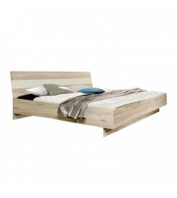 posteľ 180x200 cm, dub pieskový/biela, VALERIA