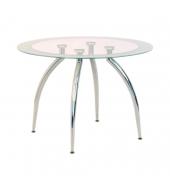Jedálenský stôl, sklo/chróm, ZIAN - NEW