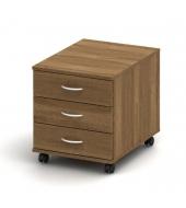 Kontajner 3 zásuvkový, bardolino tmavé, TEMPO ASISTENT NEW 016