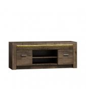 TV stolík/skrinka, jaseň tmavý, INFINITY 09