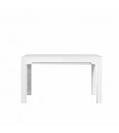 Jedálenský rozkladací stôl, san remo/biely vysoký lesk, LORIEN LS 88