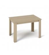 Jedálenský stôl 120x80, DTD laminovaná/ABS hrany, Dub sonoma, KRAZ