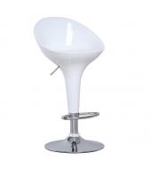 Barová stolička, chróm/biela, ALBA NOVA