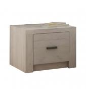 Nočný stolík, DTD laminovaná, jaseň biely, INFINITY