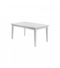 Jedálenský stôl, DTD fóliovaná/MDF lakovaná, biela, PARIS