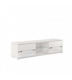 RTV stolík, biela vysoký lesk, ADONIS AS 30