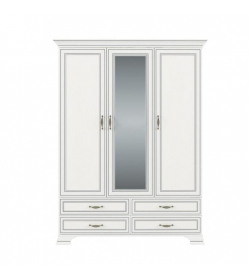 Skriňa so zrkadlom 3D4S, DTD laminovaná, woodline krem, TIFFY 01
