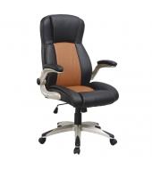 Kancelárske kreslo, ekokoža svetlohnedá/čierna, KNOX
