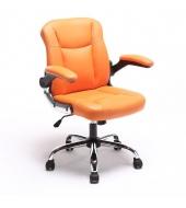 Kancelárske kreslo, oranžová ekokoža, GARED