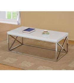 Konferenčný stolík, biela HG, COLMAN