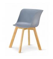 Stolička, sivá/buk,LEVIN