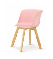 Stolička, ružová/buk, LEVIN