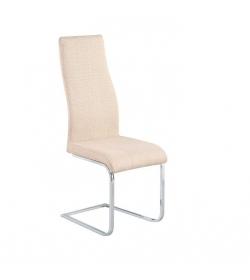 Jedálenská stolička, látka bežová/chróm, AMINA