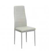 Stolička, ekokoža svetlosivá/sivý kov, COLETA NOVA