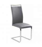 Jedálenská stolička,  sivá, BARNA NEW