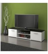 TV stolík/skrinka, čierna/biela, ZUNO NEW 01