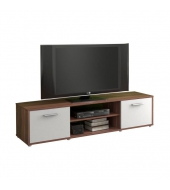 TV stolík/skrinka, slivka/biela, ZUNO NEW 01
