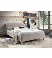 Manželská posteľ, béžová látka, 180x200, RUPA