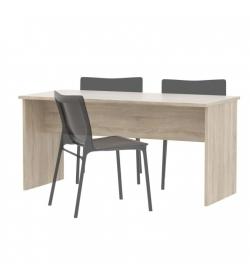 Obojstranný stôl, dub sonoma, JOHAN NEW 08