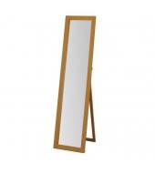 Zrkadlo, stojanové, masívne drevo, dub, AIDA NEW
