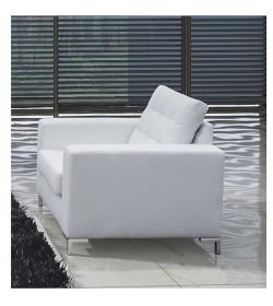 Celočalunené kreslo, ekokoža, biela, ORAGION