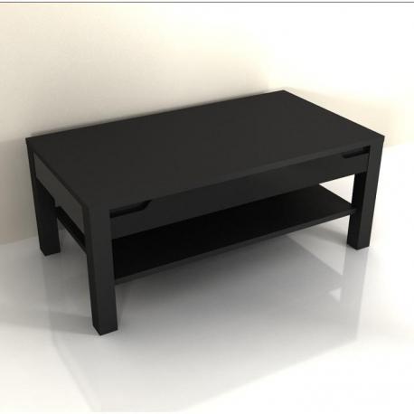 Konferenčný stolík, čierny vysoký lesk, ADONIS AS 96