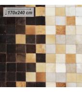 Luxusný koberec, pravá koža, 170x240, KOŽA TYP 7