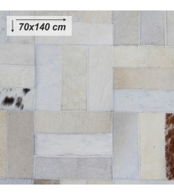 Luxusný koberec, pravá koža, 70x140, KOŽA TYP 1
