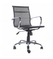 Kancelárske kreslo, čierna sieťovina/kov, MELIS