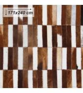 Luxusný koberec, pravá koža, 171x240, KOŽA TYP 5